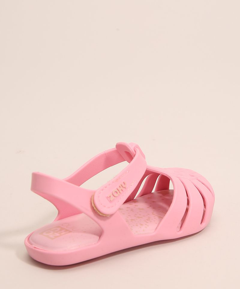 Sandalia-Infantil-Zaxynina-Encantada-com-Estrelas-e-Velcro-Grendene-Rosa-1007248-Rosa_2