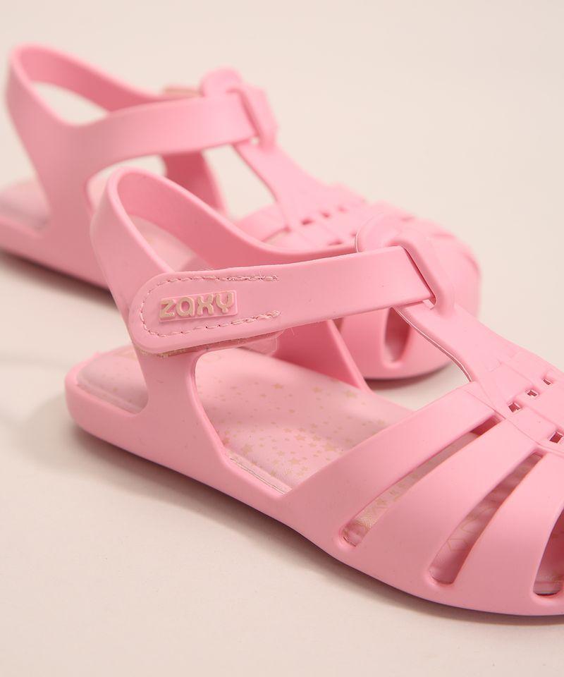 Sandalia-Infantil-Zaxynina-Encantada-com-Estrelas-e-Velcro-Grendene-Rosa-1007248-Rosa_3