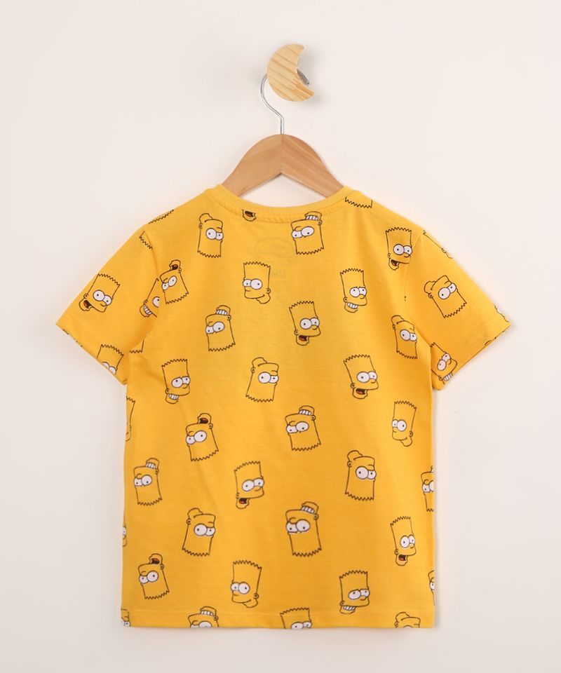 Camiseta-Infantil-de-Algodao-Estampada-Bart-Simpson-Manga-Curta-Amarela-9995245-Amarelo_3