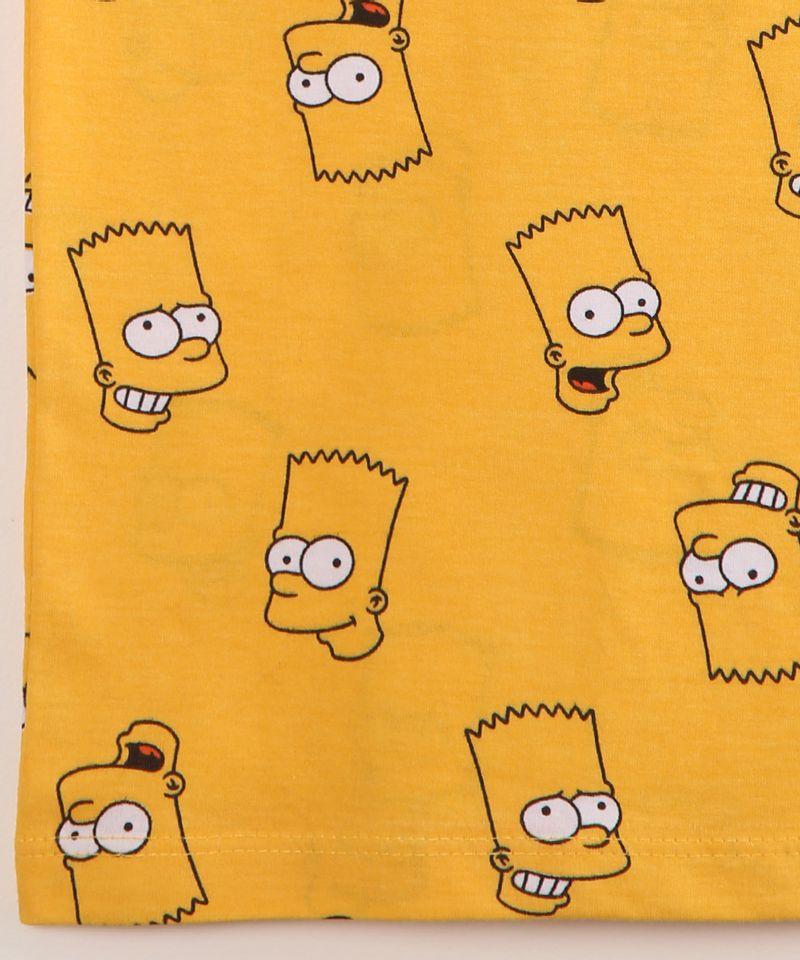 Camiseta-Infantil-de-Algodao-Estampada-Bart-Simpson-Manga-Curta-Amarela-9995245-Amarelo_4