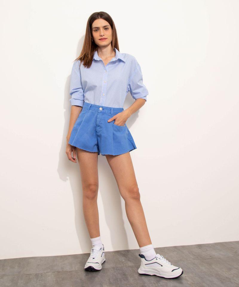 Short-de-Sarja-Feminino-Mindset-Gode-Cintura-Alta-com-Barra-a-Fio-Azul-9974831-Azul_1