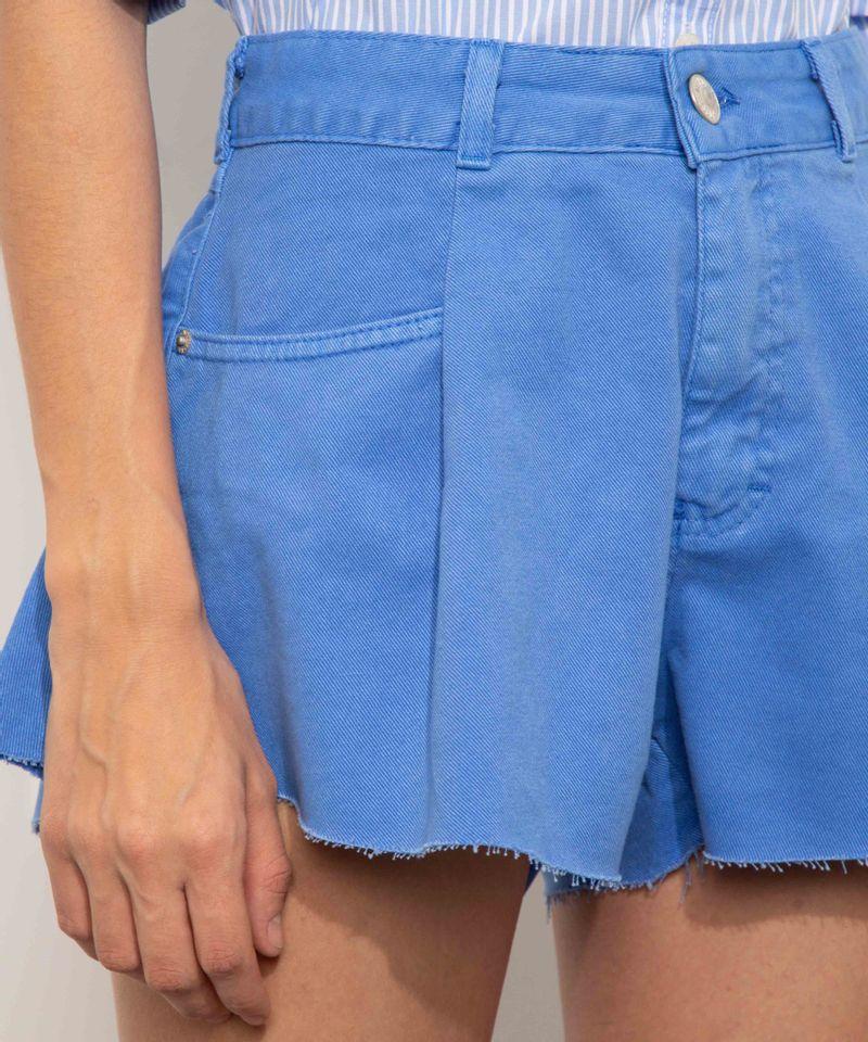 Short-de-Sarja-Feminino-Mindset-Gode-Cintura-Alta-com-Barra-a-Fio-Azul-9974831-Azul_4