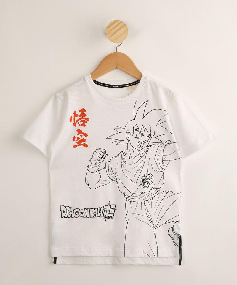 Camiseta-Infantil-de-Algodao-Goku-Dragon-Ball-Manga-Curta-Branca-1000475-Branco_1