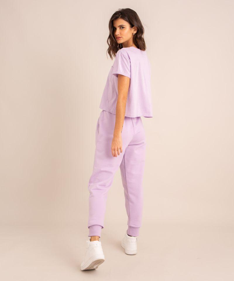 conjunto-basico-de-camiseta-cropped-com-bolso-manga-curta-decote-redondo---calca-jogger-de-moletom-cintura-media--lilas-1006882-Lilas_2