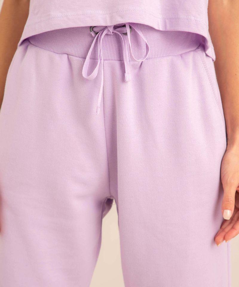 conjunto-basico-de-camiseta-cropped-com-bolso-manga-curta-decote-redondo---calca-jogger-de-moletom-cintura-media--lilas-1006882-Lilas_5