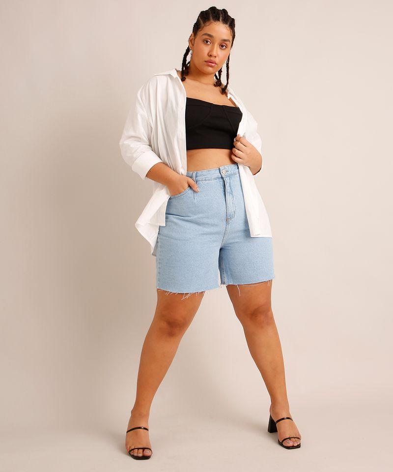 Bermuda-Jeans-com-Pregas-e-Barra-Desfiada-Cintura-Super-Alta-Azul-Claro-1006558-Azul_Claro_1