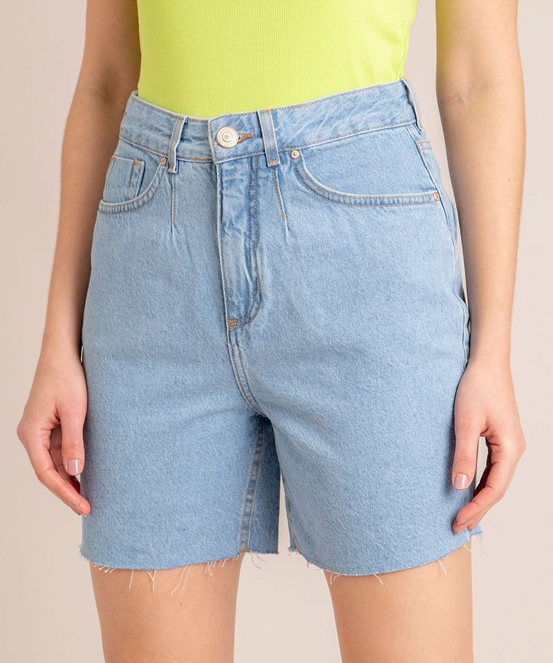 Bermuda-Jeans-com-Pregas-e-Barra-Desfiada-Cintura-Super-Alta-Azul-Claro-1006558-Azul_Claro_3