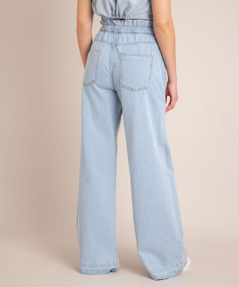 Calca-Wide-Leg--Jeans-Cintura-Super-Alta-com-Barra-Desfiada-Azul-Claro-1006560-Azul_Claro_4