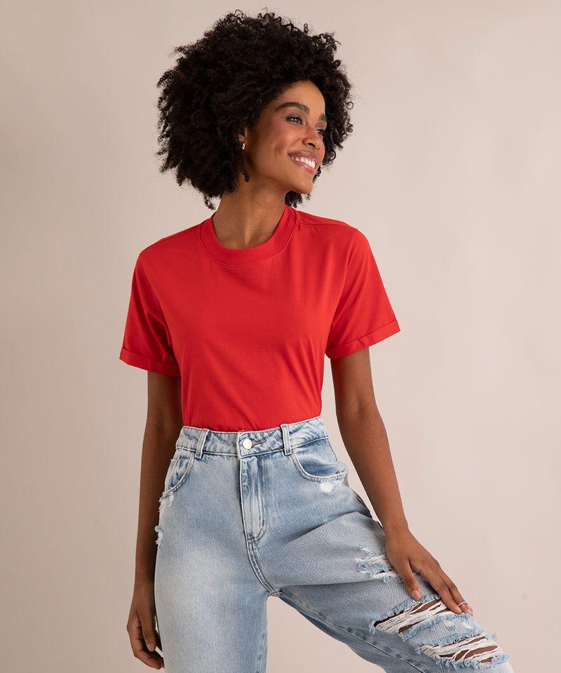 Camiseta-de-Algodao-Basica-Manga-Curta-Decote-Redondo--vermelha-9980091-Vermelho_1