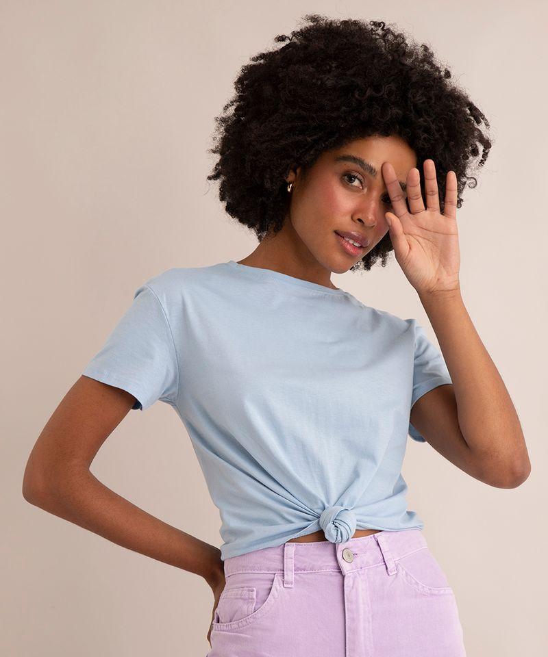 Camiseta-de-Algodao-Basica-com-No-Manga-Curta-Decote-Redondo--azul-claro-1-9883921-Azul_Claro_1_1
