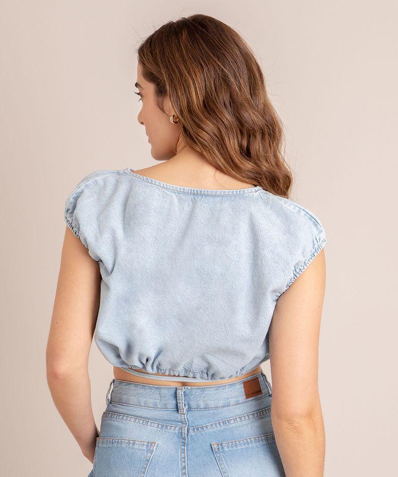 Blusa-Cropped-Jeans-com-Amarracao-Manga-Bufante-Decote-Redondo-Azul-Claro-1007142-Azul_Claro_2
