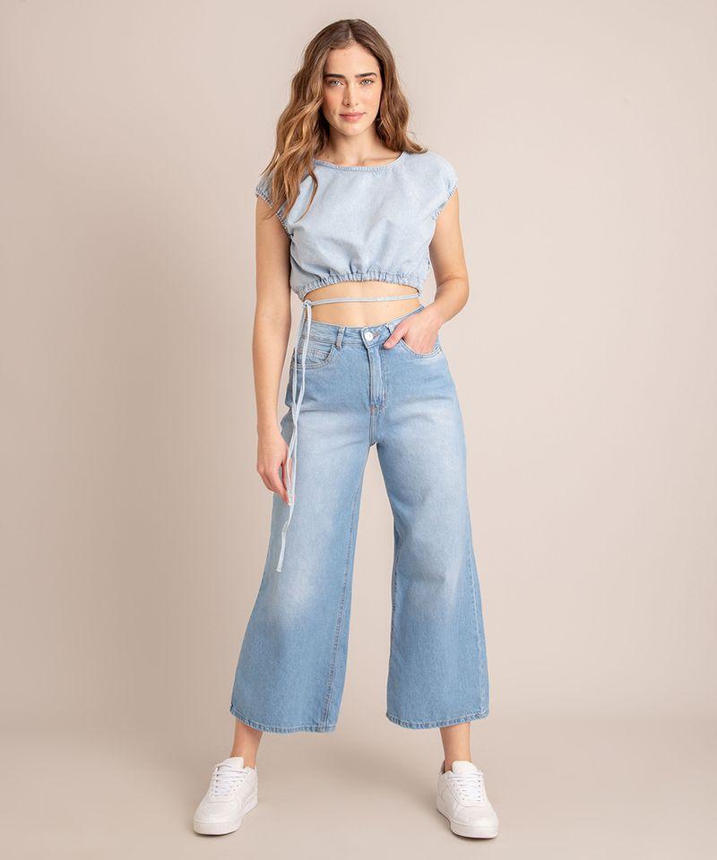 Blusa-Cropped-Jeans-com-Amarracao-Manga-Bufante-Decote-Redondo-Azul-Claro-1007142-Azul_Claro_3