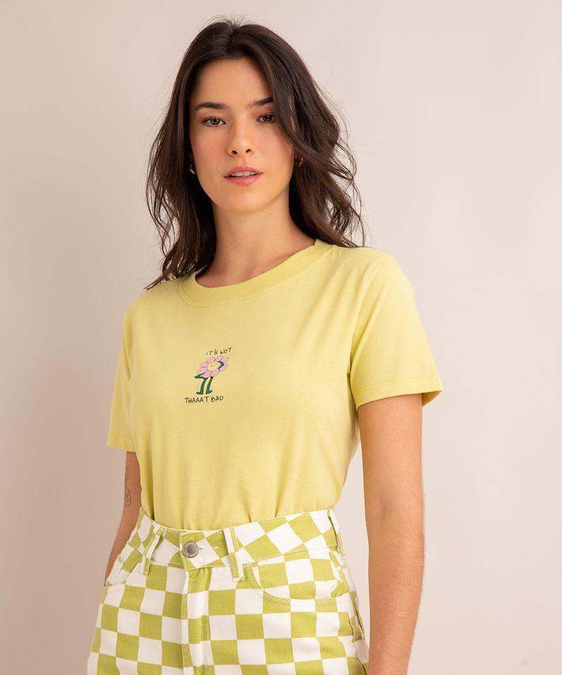 camiseta-oversized-de-algodao--it-s-not-thaaat-bad--manga-curta-decote-redondo-verde-claro-1004988-Verde_Claro_1
