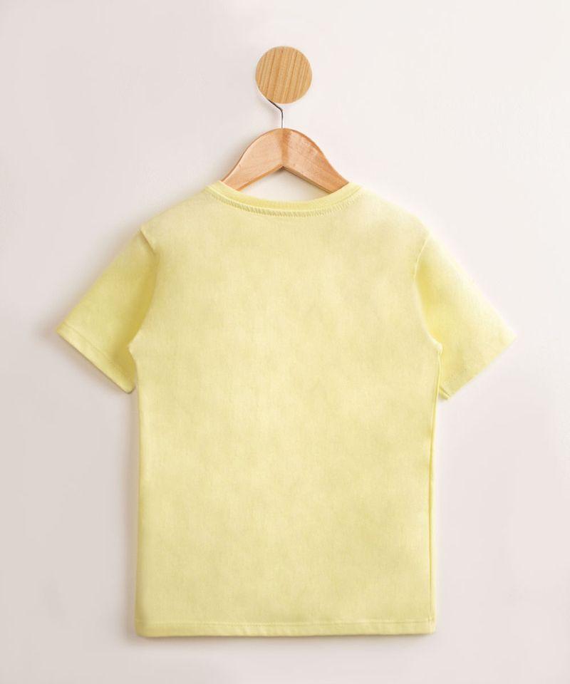 Camiseta-Infantil-de-Algodao-Basica-Manga-Curta-Amarelo-Claro-9976961-Amarelo_Claro_2