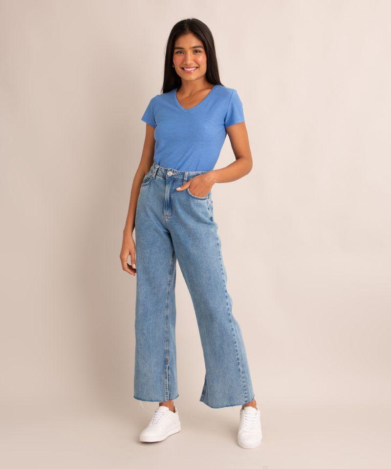 camiseta-flame-de-algodao-basica-manga-curta-decote-v-azul-2-8525926-Azul_2_3