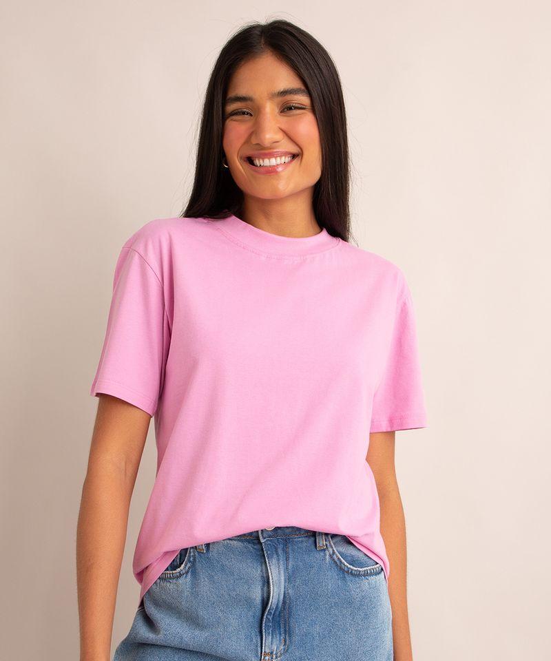 camiseta-de-algodao-basica-manga-curta-gola-alta-rosa-1004121-Rosa_1