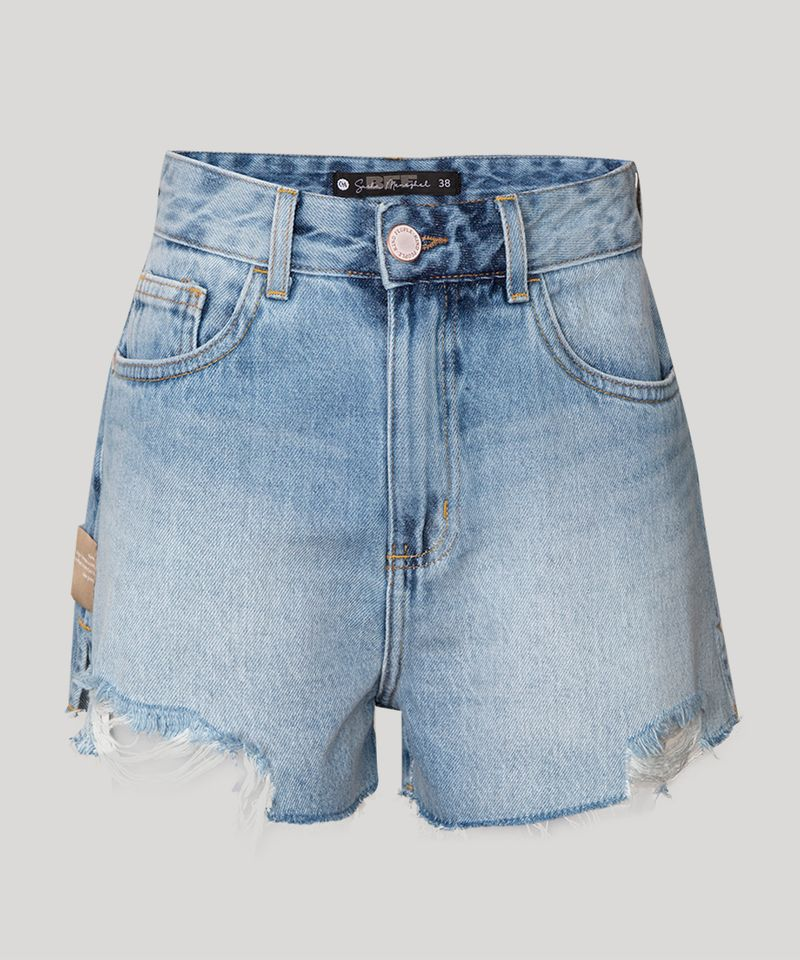Short-Vintage-Jeans-com-Bordado-Cintura-Super-Alta-Destroyed-BFF-Azul-Claro-1010562-Azul_Claro_1
