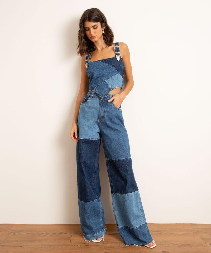 Calca-Wide-Pantalona-Jeans-Patchwork-Cintura-Super-Alta-BFF-Azul-Escuro-1010558-Azul_Escuro_2