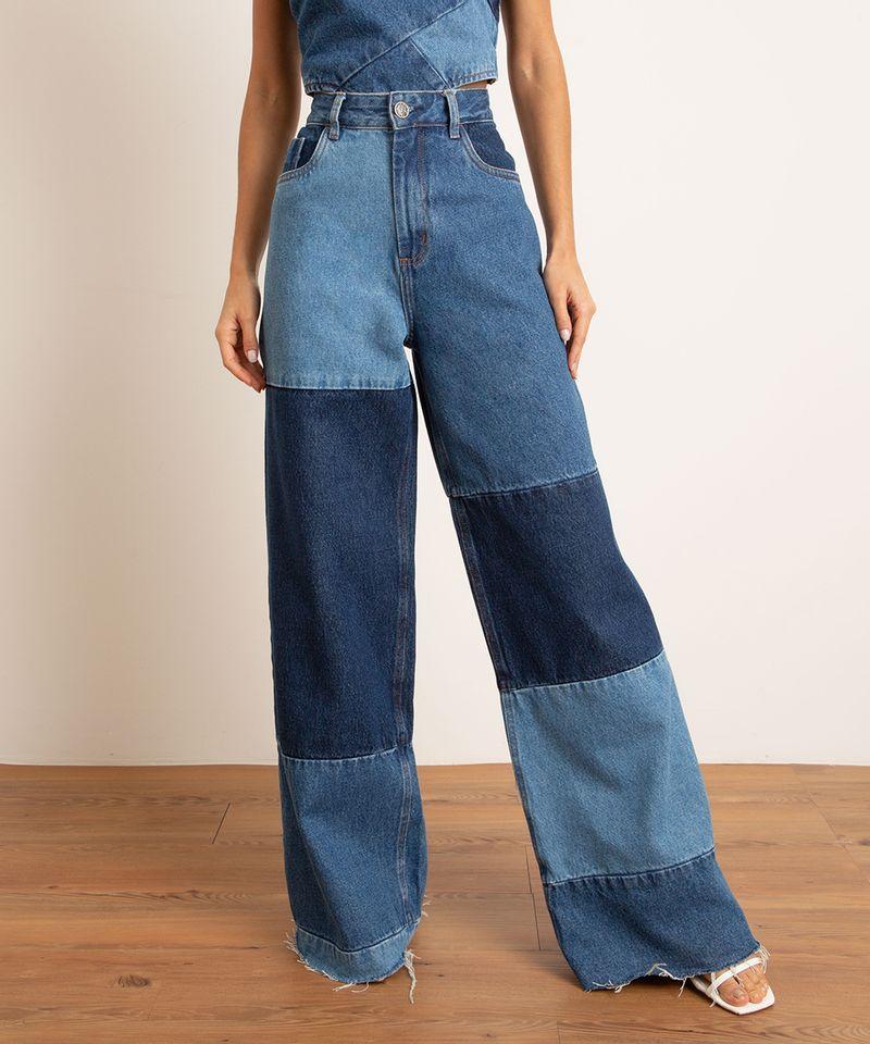 Calca-Wide-Pantalona-Jeans-Patchwork-Cintura-Super-Alta-BFF-Azul-Escuro-1010558-Azul_Escuro_3