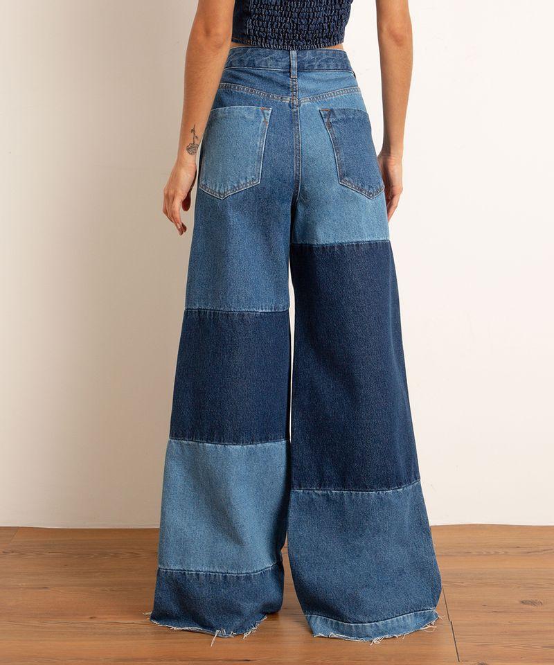 Calca-Wide-Pantalona-Jeans-Patchwork-Cintura-Super-Alta-BFF-Azul-Escuro-1010558-Azul_Escuro_4