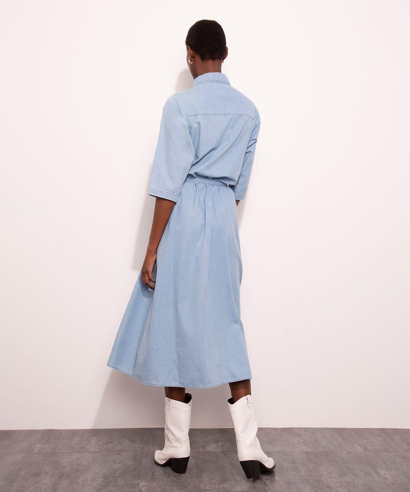 Vestido-Chemise-Midi-Jeans-com-Bolsos-Manga-3-4-Mindset-Azul-Medio-1007302-Azul_Medio_2