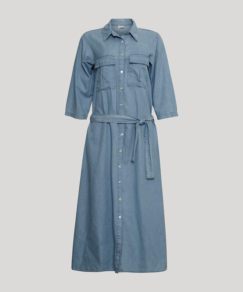 Vestido-Chemise-Midi-Jeans-com-Bolsos-Manga-3-4-Mindset-Azul-Medio-1007302-Azul_Medio_6