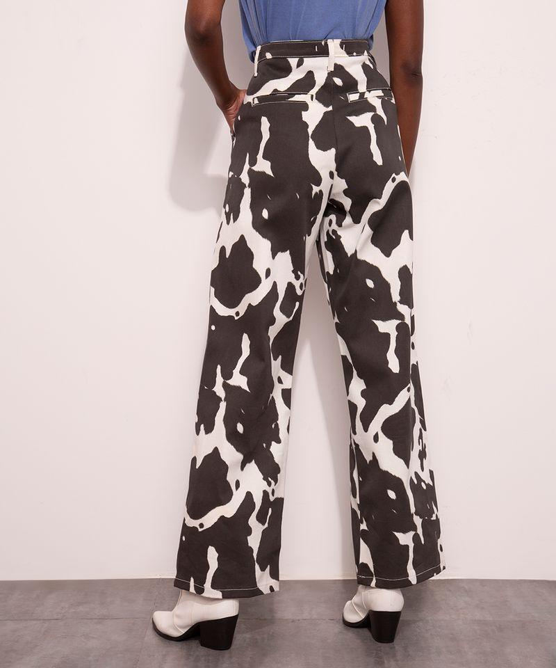 Calca-Reta-de-Sarja-Estampada-Animal-Print-Vaca-Cintura-Super-Alta-Mindset-Off-White-9997956-Off_White_3