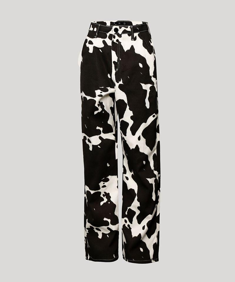 Calca-Reta-de-Sarja-Estampada-Animal-Print-Vaca-Cintura-Super-Alta-Mindset-Off-White-9997956-Off_White_6