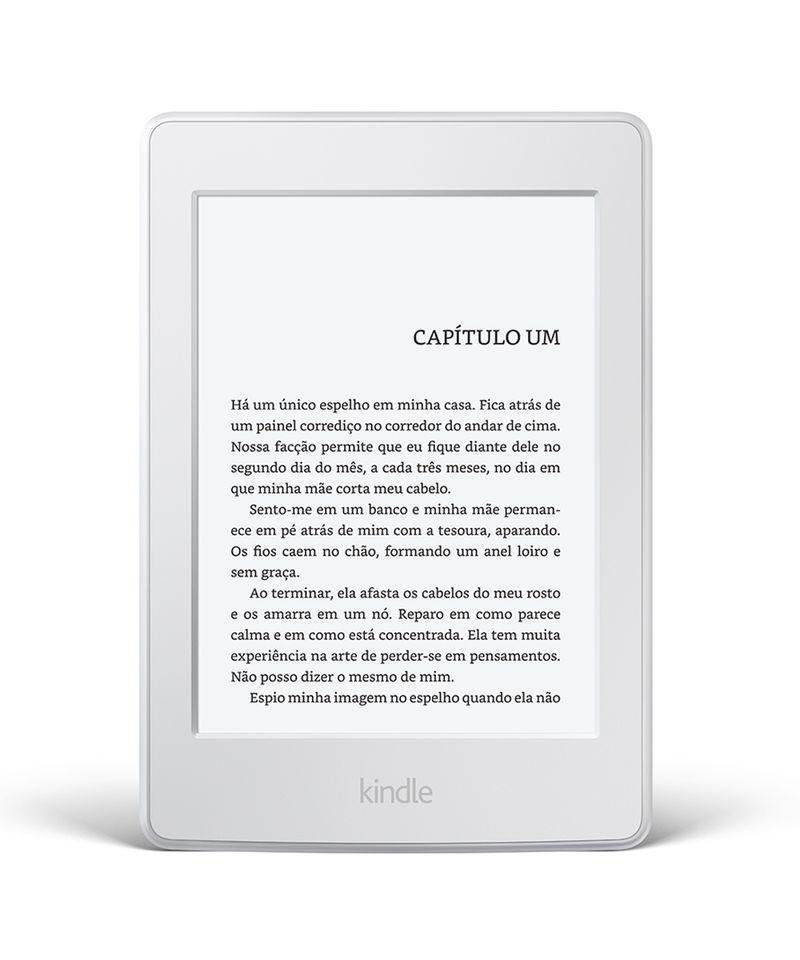 """Kindle-Paperwhite-AO0456-com-wi-fi-4gb-tela-6""""-alta-definicao-sensivel-ao-toque-iluminacao-embutida---2-e-books-gratis--Branco-8160991-Branco_1"""