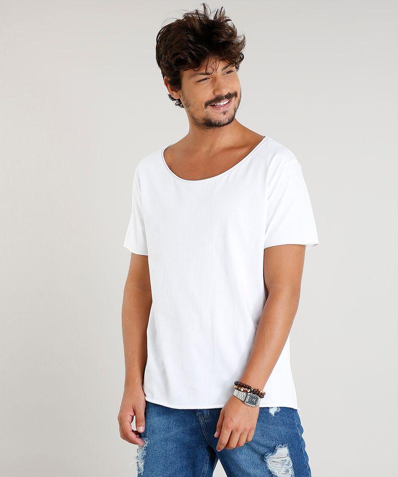 Camiseta-Masculina-Longa-Manga-Curta-Gola-Canoa-Branca-9419273-Branco_1