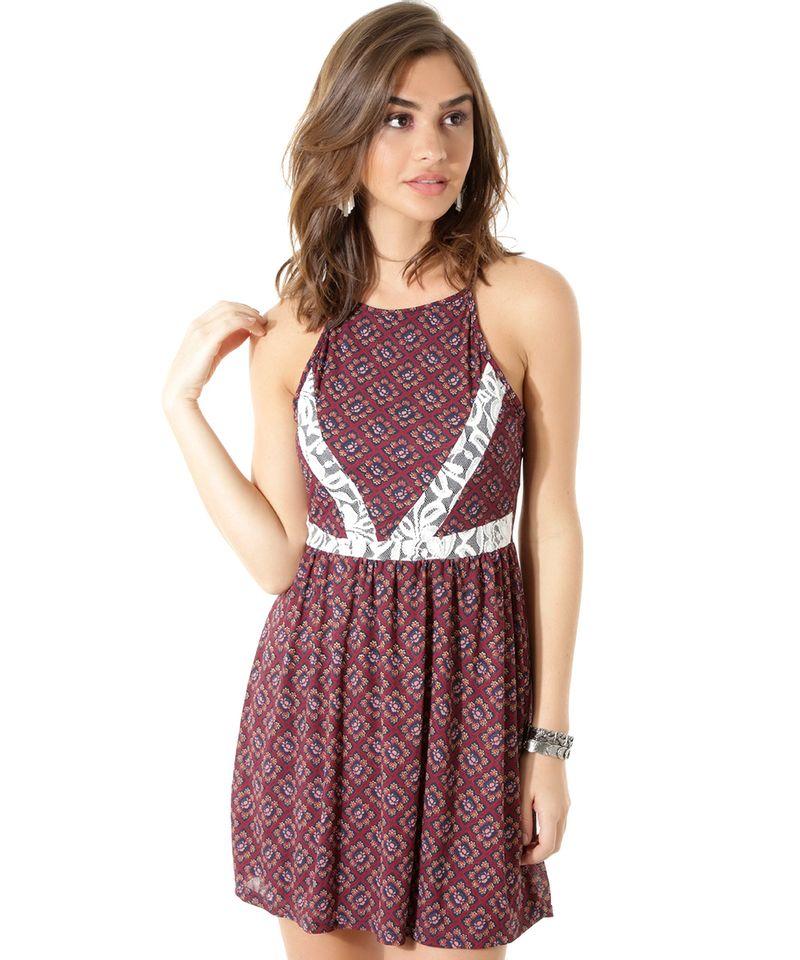 Vestido-Floral-com-Renda--Vinho-8403693-Vinho_1