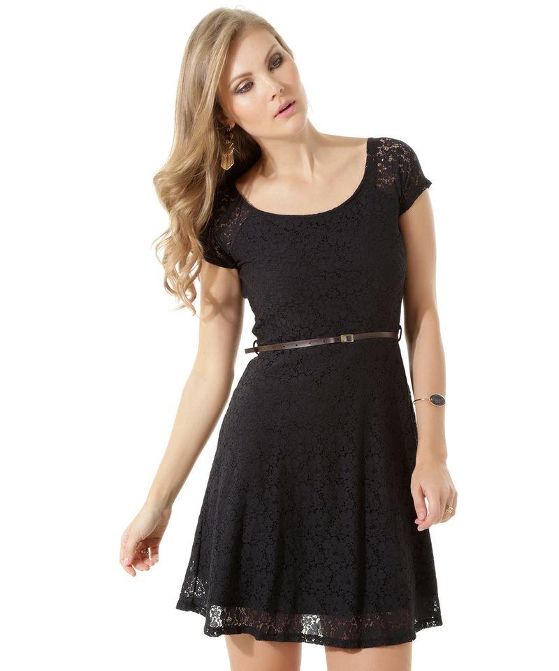 Vestido-em-Renda-com-Cinto-Preto-8396094-Preto_1