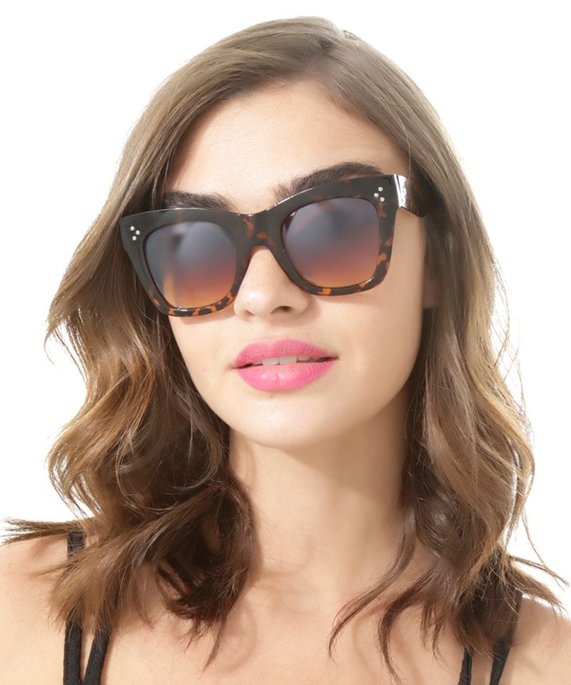 Oculos-Gatinho-Feminino-Oneself-Tartaruga-8483558-Tartaruga_2