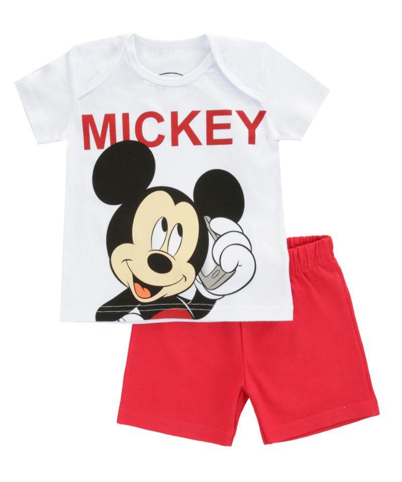 Conjunto-de-Camiseta-Branca---Bermuda-Mickey-Vermelha-8392737-Vermelho_1