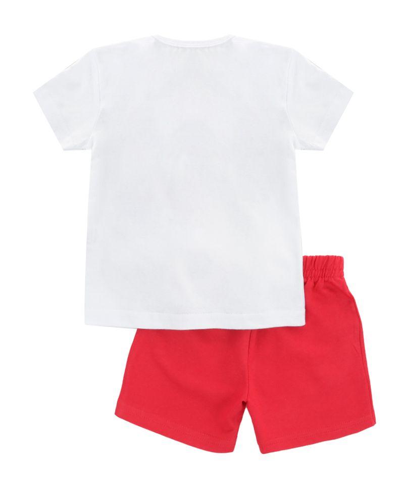 Conjunto-de-Camiseta-Branca---Bermuda-Mickey-Vermelha-8392737-Vermelho_2