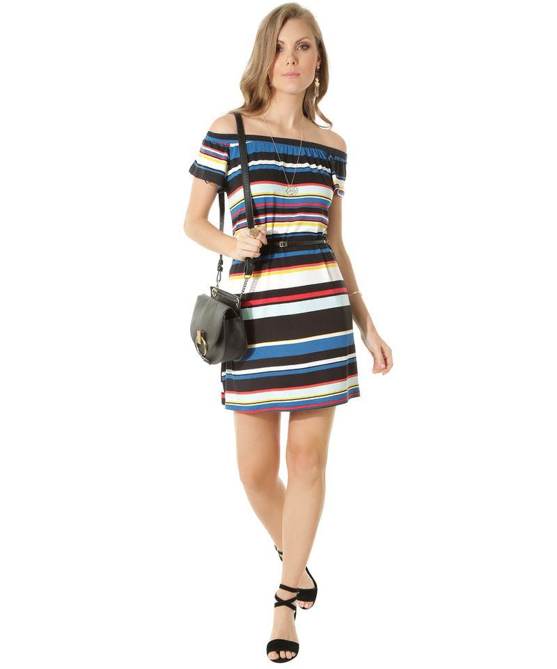 Vestido-Ombro-a-Ombro-Listrado-com-Cinto-Preto-8449346-Preto_3