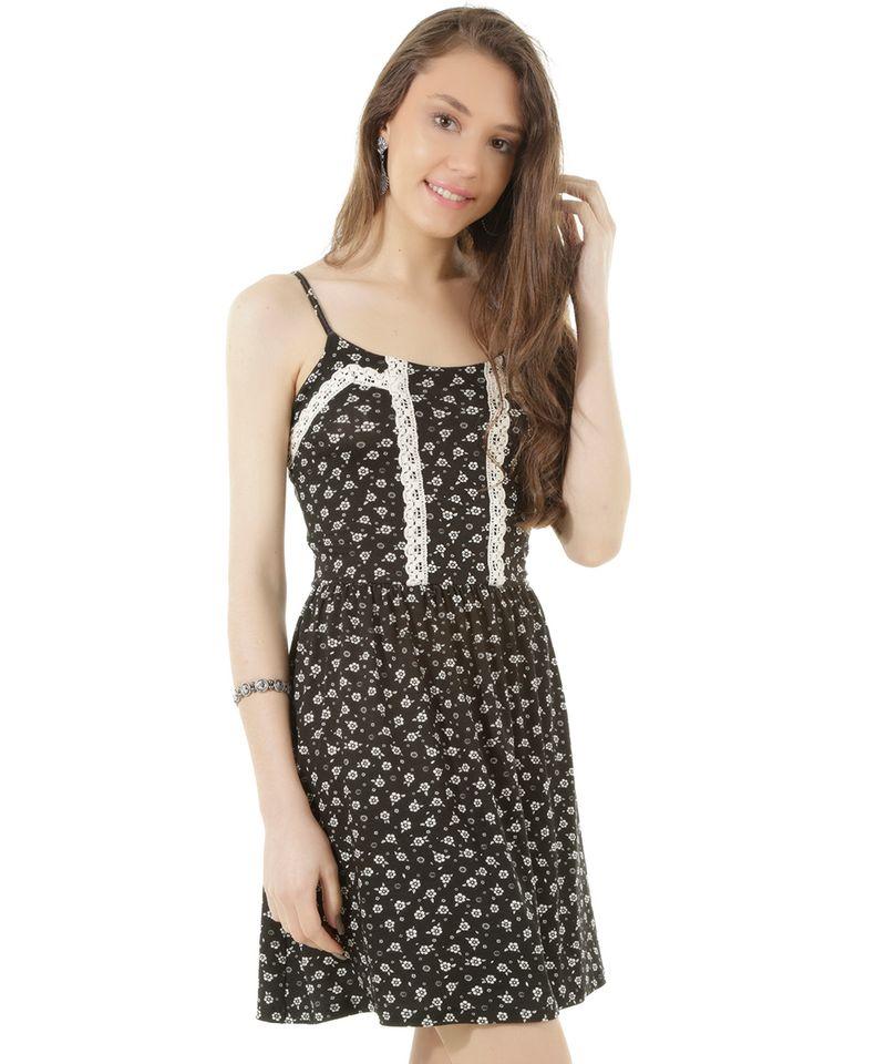 Vestido-Estampado-Floral-com-Renda-Preto-8374644-Preto_1