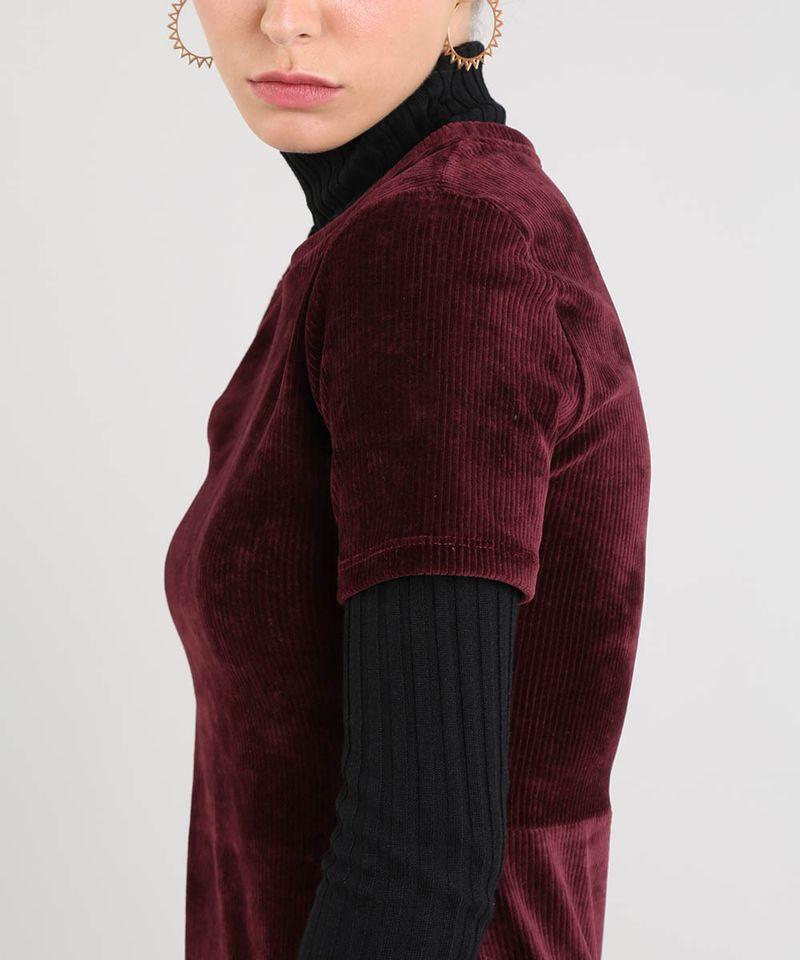 Vestido-Feminino-Curto-em-Veludo-Cotele-Manga-Curta-Vinho-9521608-Vinho_4
