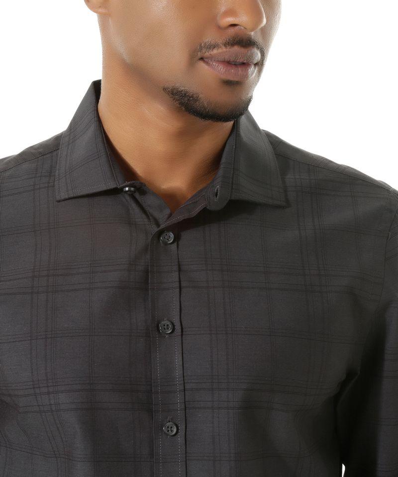 Camisa-Social-Slim-Xadrez-Preta-8303262-Preto_4