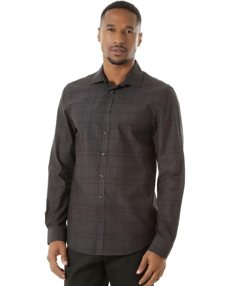 Camisa-Social-Slim-Xadrez-Preta-8303262-Preto_5