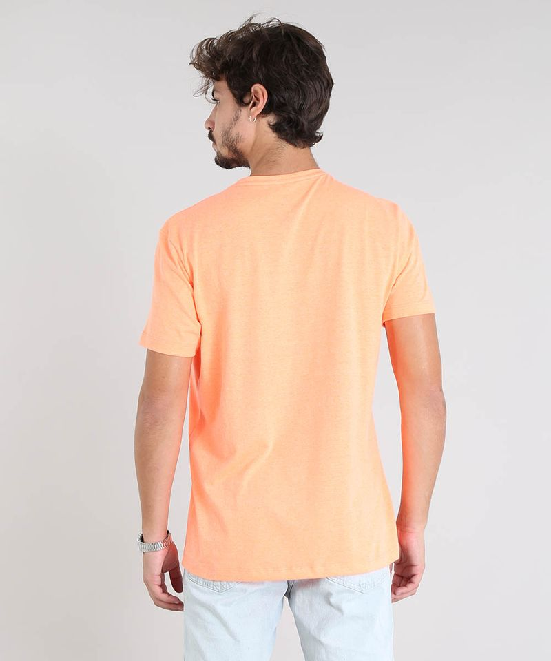 Camiseta-Masculina--Don-t-Care-Don-t-Mind--Manga-Curta-Gola-Careca-Laranja-Neon-9601069-Laranja_Neon_2