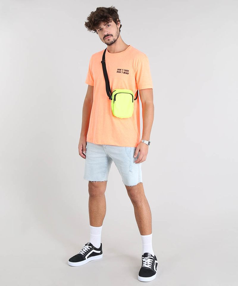 Camiseta-Masculina--Don-t-Care-Don-t-Mind--Manga-Curta-Gola-Careca-Laranja-Neon-9601069-Laranja_Neon_3
