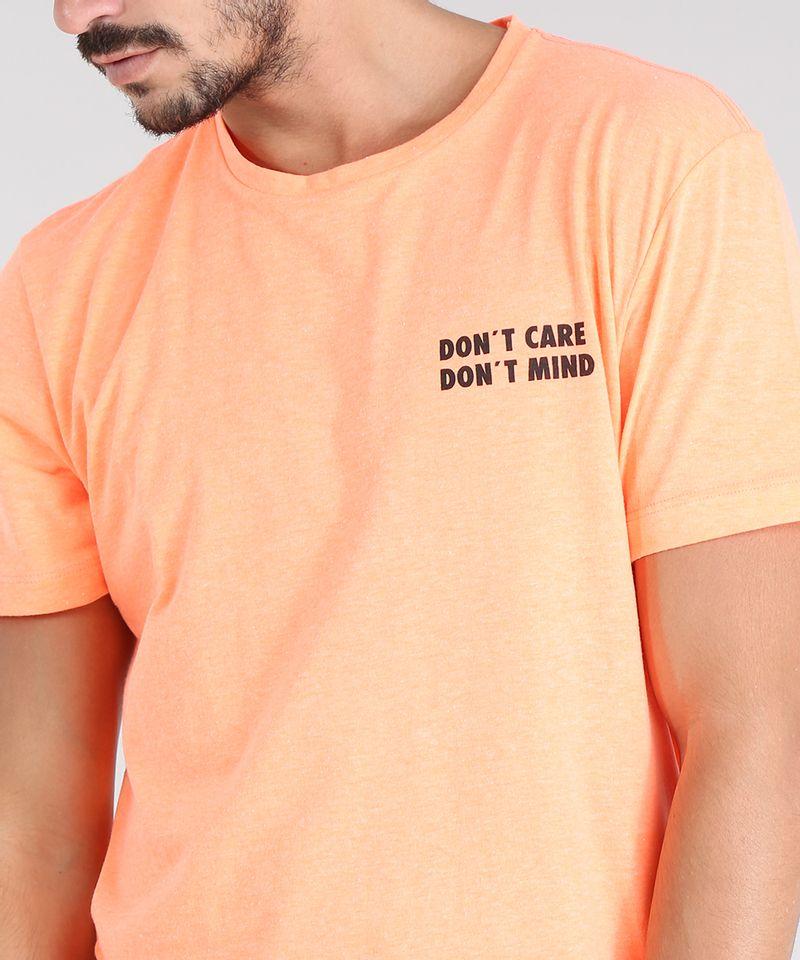 Camiseta-Masculina--Don-t-Care-Don-t-Mind--Manga-Curta-Gola-Careca-Laranja-Neon-9601069-Laranja_Neon_4