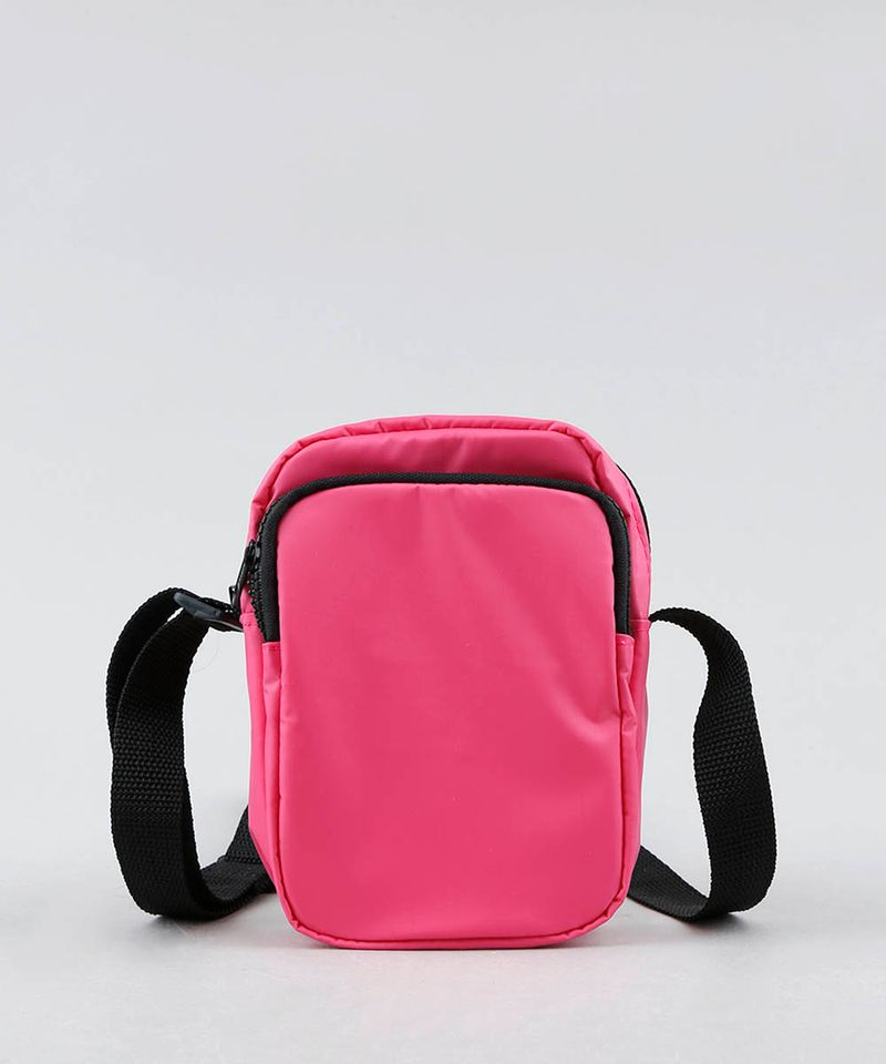 Bolsa-Shoulder-Bag-Unissex-Transversal-Pequena-com-Bolso-Rosa-Neon-9529878-Rosa_Neon_1